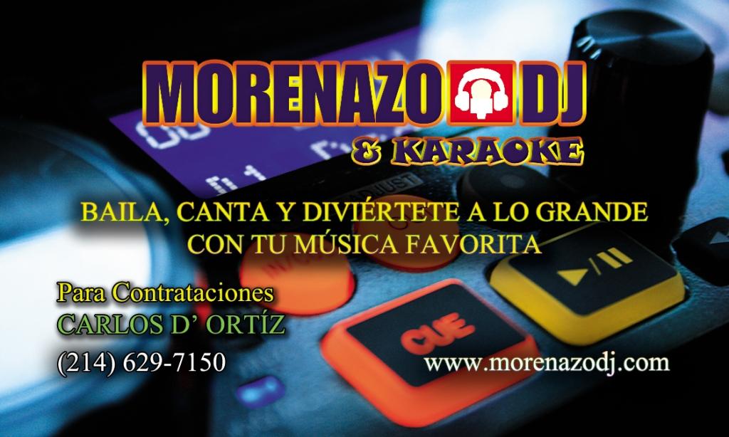 Búscame en Facebook, Instagram y Telegram como @MorenazoDJ en WhatsApp (469) 251-2851